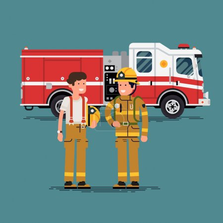 Two firefighter officers