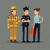Cool public safety worker characters