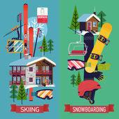 skiing and snowboarding templates