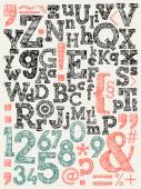 Sketchy creative letters