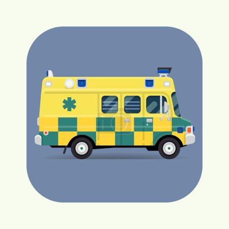 Emergency paramedic car symbol
