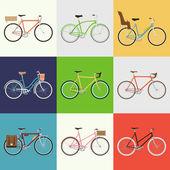 """Постер, картина, фотообои """"городской, город и городские велосипеды"""""""