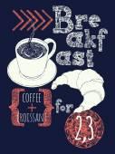 Cafe breakfast  poster.