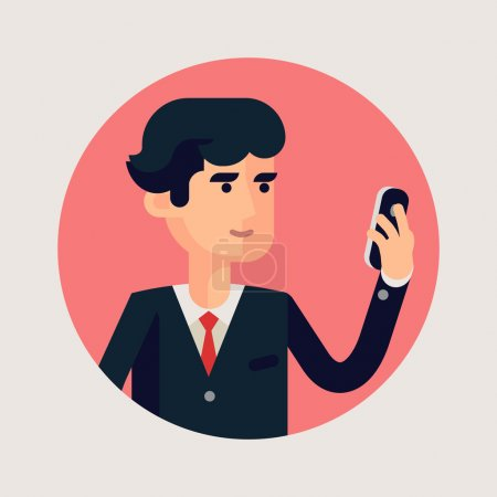 Business man  circle icon