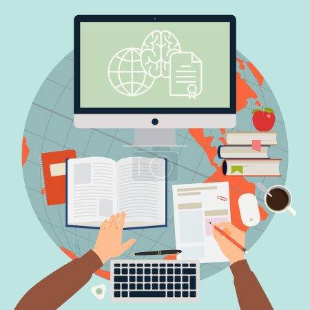 Online training process.