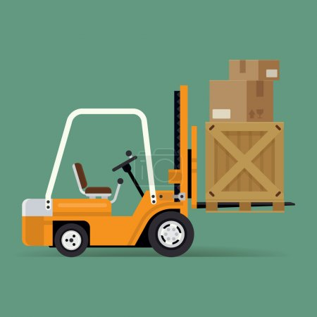Delivery forklift trendy icon