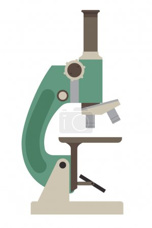 Illustration for Microscope icon isolated on white - Royalty Free Image