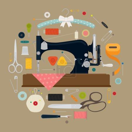 Circle shaped sewing items