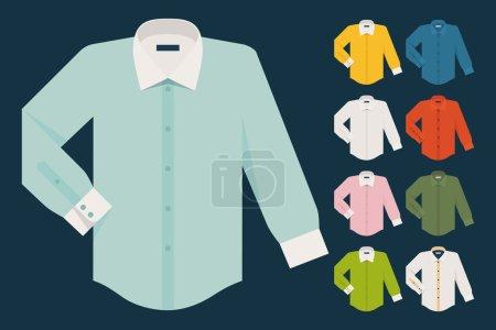Various dress shirts