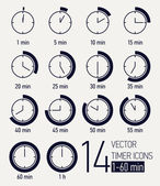 Time interval icons