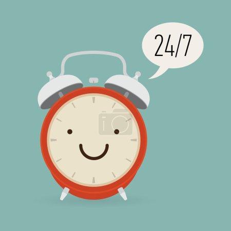 Alarm clock with twenty four seven