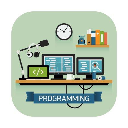 Programmer work space icon