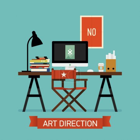 Art director work space interior