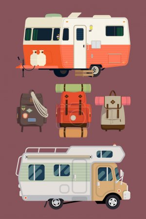 Camping lifestyle, traveling