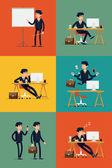 Üzleti irodai dolgozó web ikonok