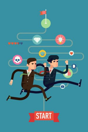 Businessmen competition run
