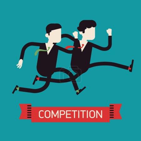 Businessmen competition run.