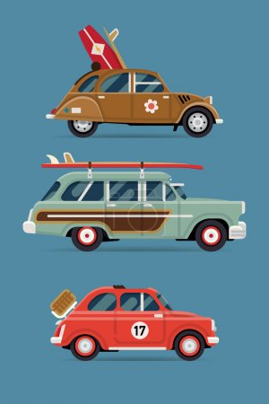 Private transport icons