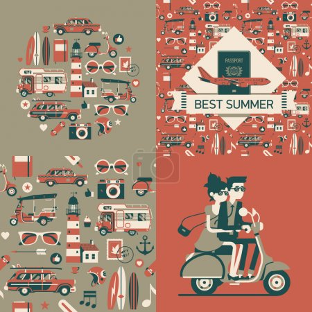 Best summer  cards and posters