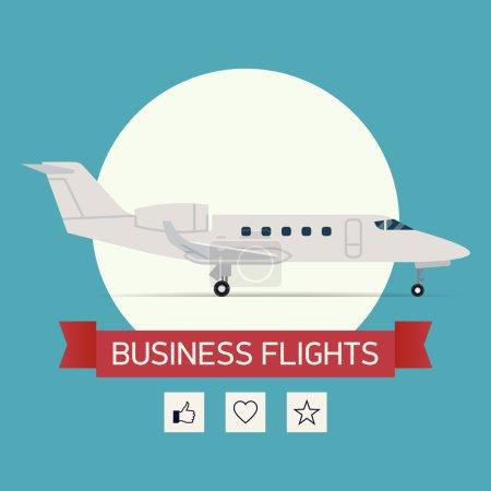Business jet plane