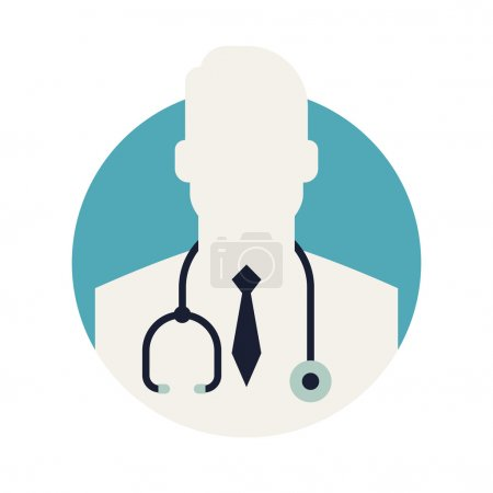 Medic doctor circle icon