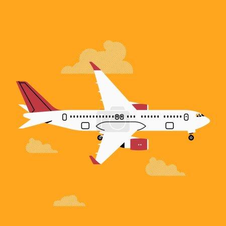Passenger jet air plane airliner