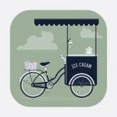 Ice cream bicycle cart vintage