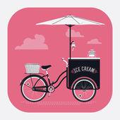 Ice cream retro bicycle cart