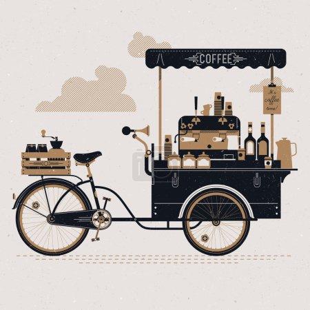 Street coffee bicycle cart