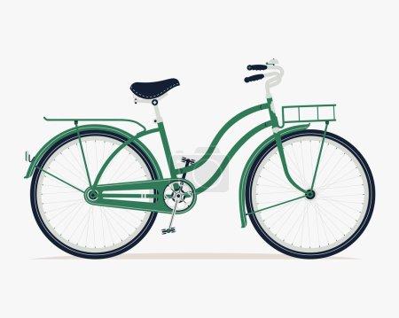 Vintage green bicycle