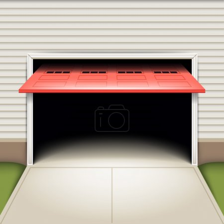 Empty garage background