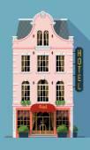 hostel building facade