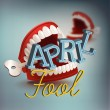 Cool vector april fool's day concept design with c...