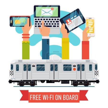 Subway underground train   with wi-fi
