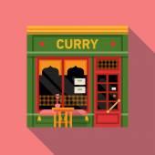 indian curry restaurant facade