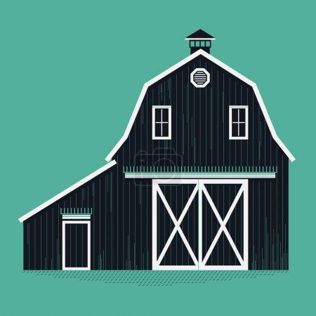 wooden farm barn.
