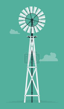 water pump windmill tower