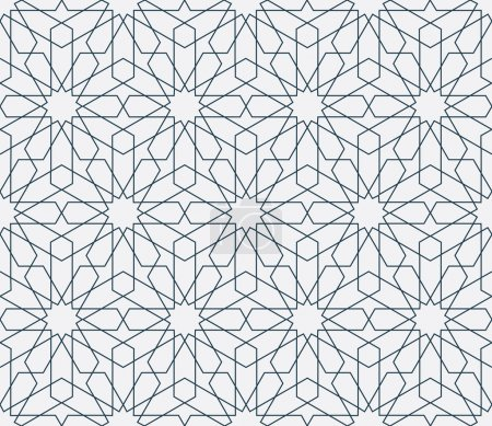 Illustration for Lovely modern thin line vector traditional arabic pattern background design. Ideal for wall decoration, print ables and wrapping paper design - Royalty Free Image