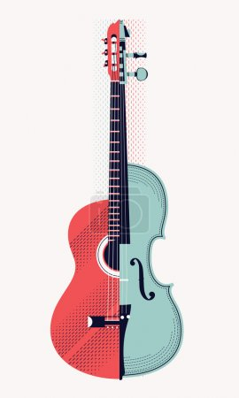 Classical acoustic guitar and violin.