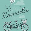 Постер, плакат: Romance with tandem bicycle