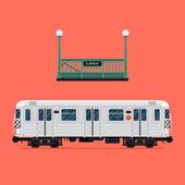 Subway train car