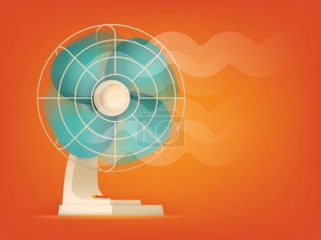 Ventilator fan blowing