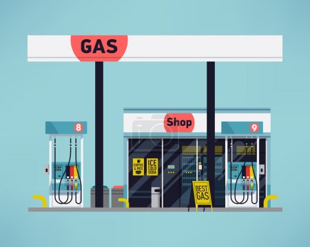 gas filling station.