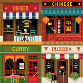 Restaurants facade icons