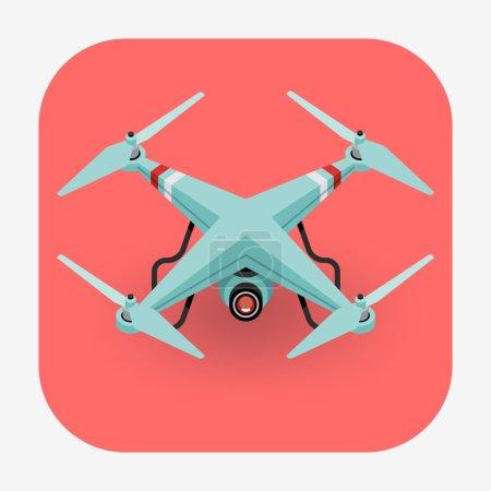 quadcopter drone web icon