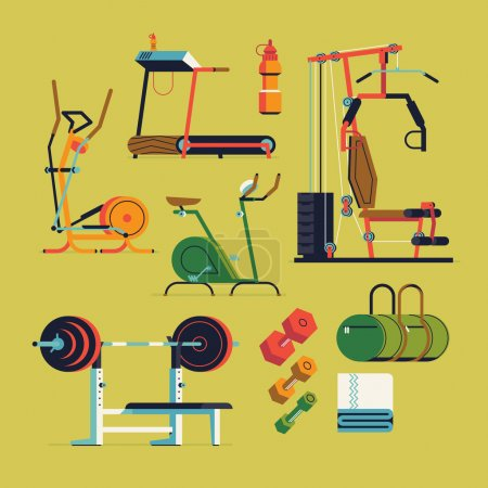 Fitness gym exercise equipment and items