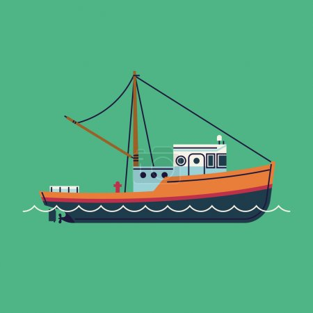 fishing boat seaway transportation