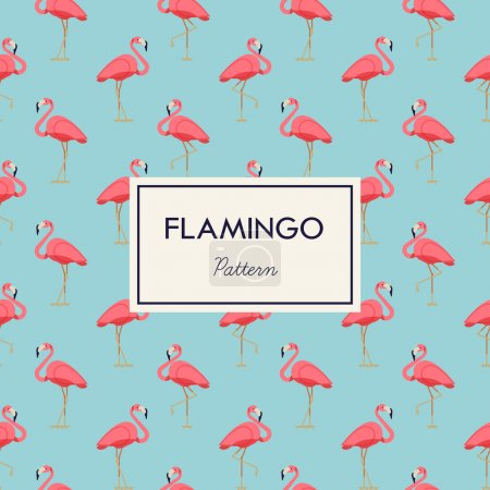 Lovely pink flamingos pattern