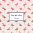 Lovely pink flamingo vector flat seamless pattern ...