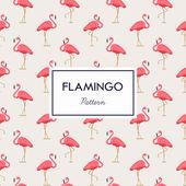 Lovely pink flamingos pattern